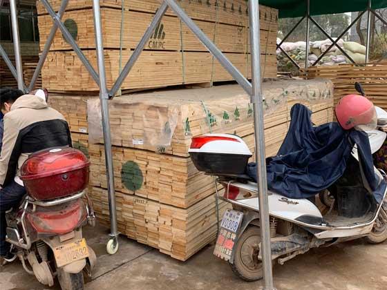 进口木材放置区