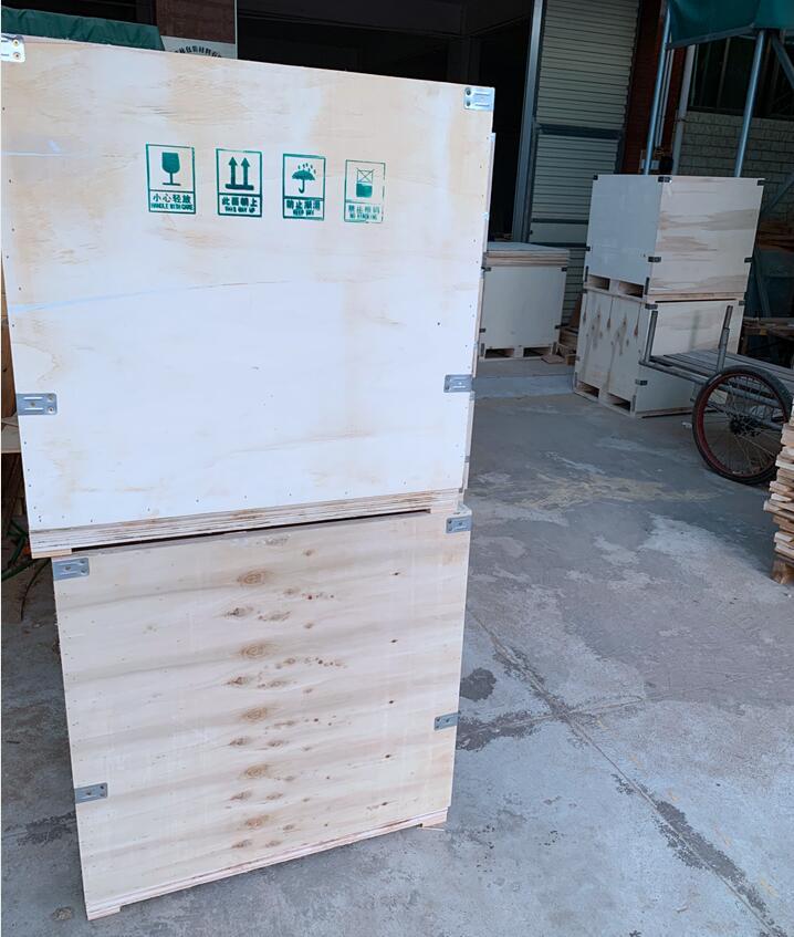 出口、钢带箱、木箱、免熏蒸